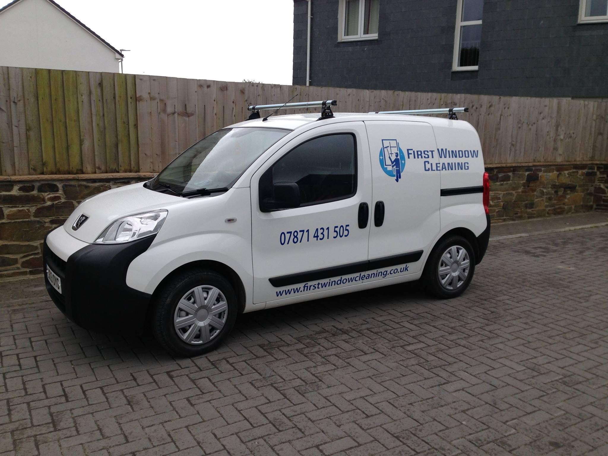 Newquay window cleaning van